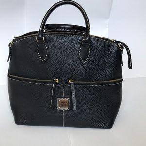 Black leather Dooney & Bourke satchel